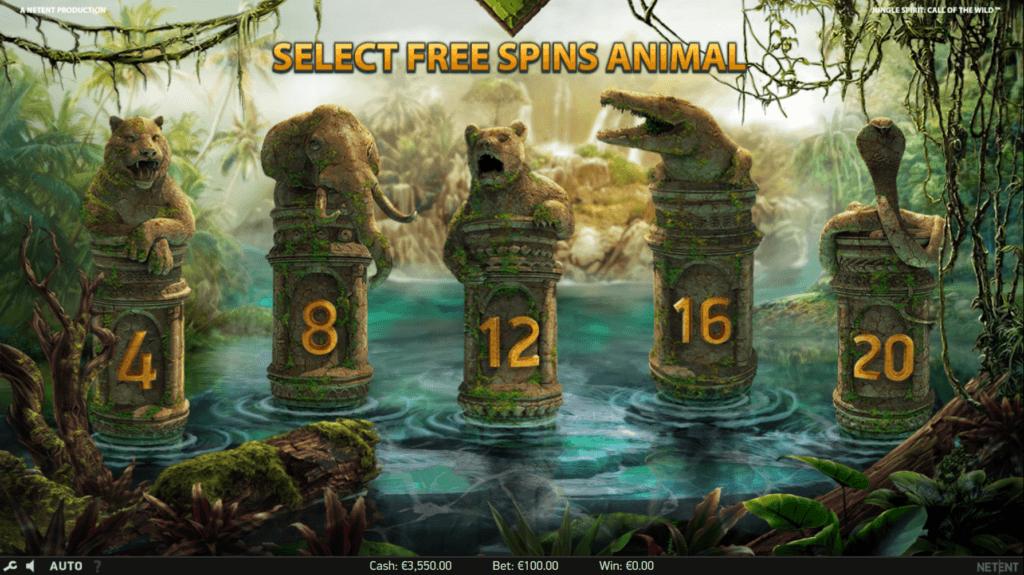 Jungle Spirit: Call of the Wild Bonus Spins