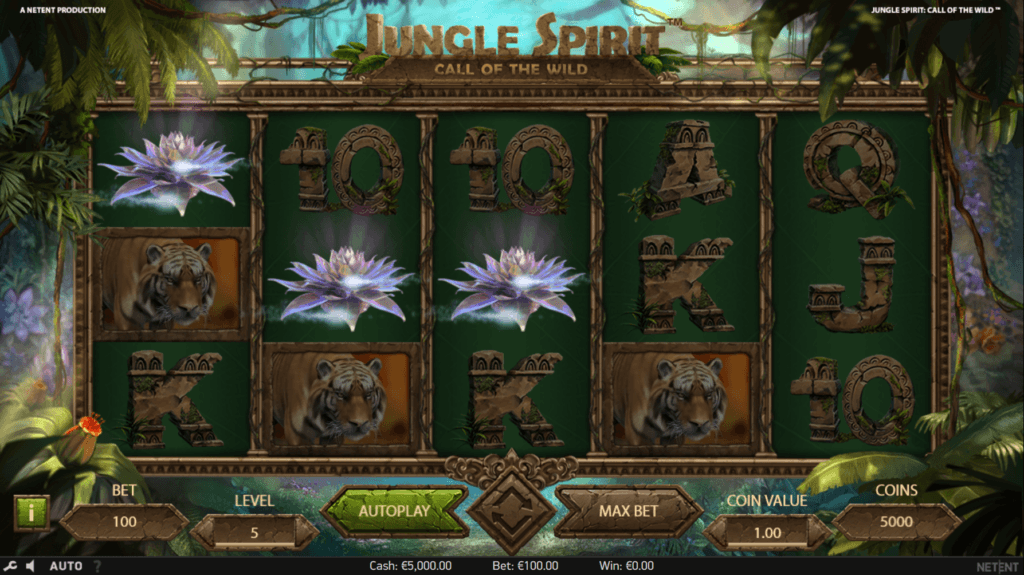 Jungle Spirit: Call of the Wild Free Spins Bonus