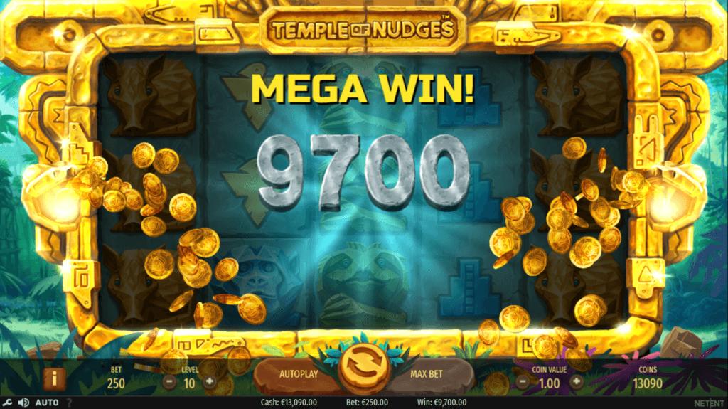 Temple of Nudges Mega Win